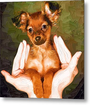 My Lovely Puppy Metal Print by Irene Pet Artist