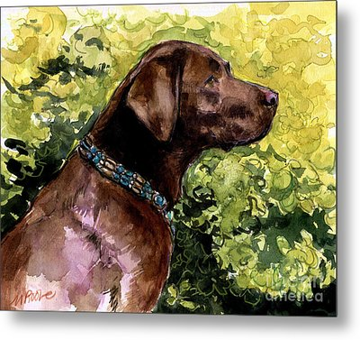 Metal Print featuring the painting My Lucky Charm by Molly Poole