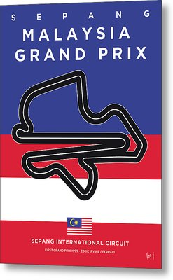 My Malaysia Grand Prix Minimal Poster Metal Print