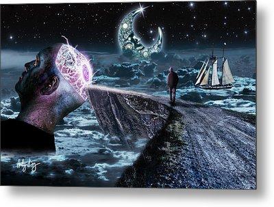 My Mind Is Glowing Metal Print by Andy King Art