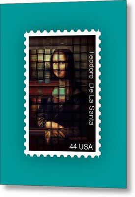 My Mona Lisa Stamp Series Metal Print by Teodoro De La Santa