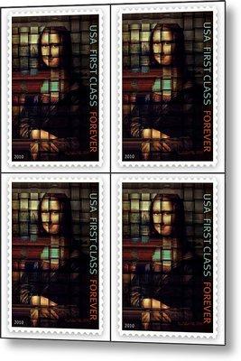 My Mona Lisa Weave  4 Metal Print by Teodoro De La Santa