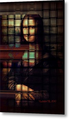 My Mona Lisa  Weave Series Metal Print by Teodoro De La Santa