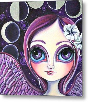 My moon Phase Angel Original Metal Print by Jaz Higgins