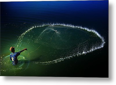 My Net Metal Print by Andre Arment