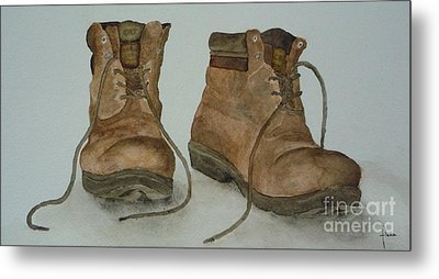 My Old Hiking Boots Metal Print