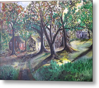 Metal Print featuring the painting My Old Southern Plantation Home by Gary Smith
