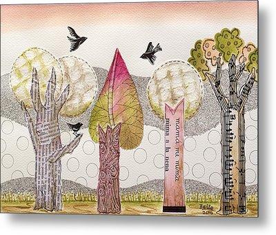My Pink Trees Metal Print by Graciela Bello