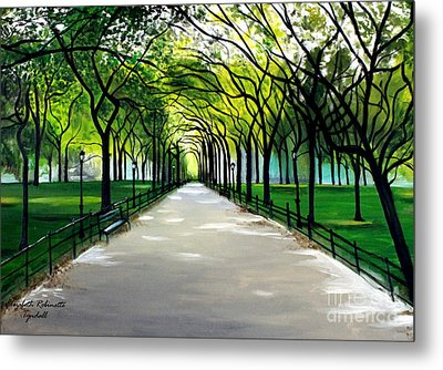 My Poet's Walk Metal Print