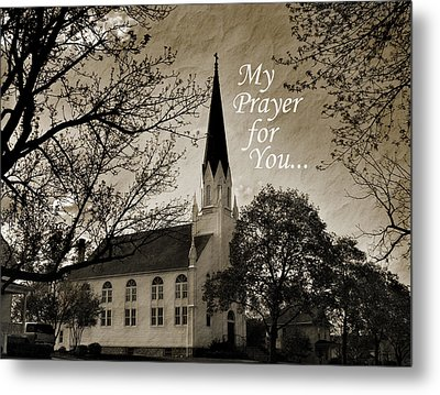Metal Print featuring the photograph My Prayer For You by Joanne Coyle