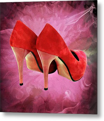 My Red Shoes Metal Print by Ericamaxine Price