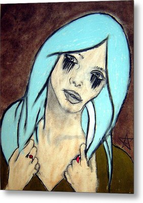 My Rings Have Secrets Too Metal Print by Chrissa Arazny