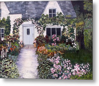 Metal Print featuring the painting My Secret Place by Diane Daigle