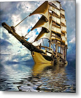 My Ship Comes In Metal Print by Pennie  McCracken