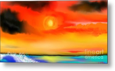 Metal Print featuring the painting My Soul by Lori  Lovetere