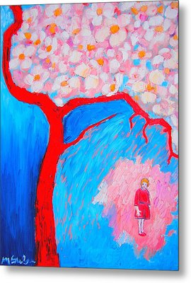 Metal Print featuring the painting My Spring by Ana Maria Edulescu