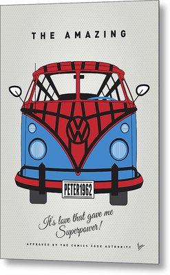 My Superhero-vw-t1-spiderman Metal Print by Chungkong Art