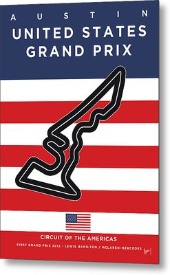 My United States Grand Prix Minimal Poster Metal Print