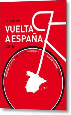 My Vuelta A Espana Minimal Poster 2015 Metal Print by Chungkong Art