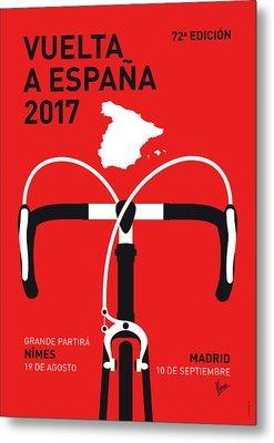 My Vuelta A Espana Minimal Poster 2017 Metal Print by Chungkong Art