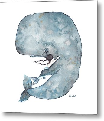My Whale Metal Print by Soosh
