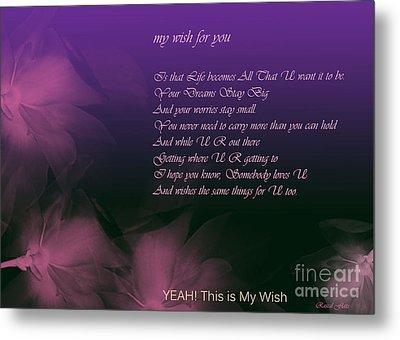 My Wish For You.. Rascal Flatts Metal Print