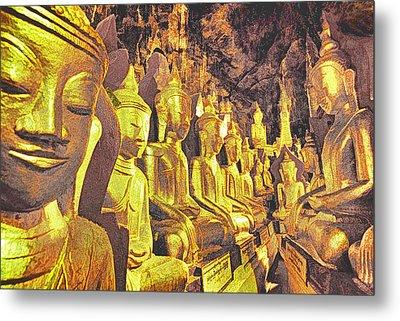 Myanmar Buddhas Metal Print by Dennis Cox WorldViews