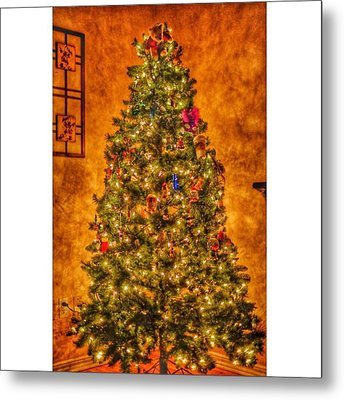 #myhouse #myhome #tree #christmas Metal Print by David Haskett