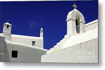 Metal Print featuring the photograph Mykonos Greece Architectual Line 5 by Bob Christopher