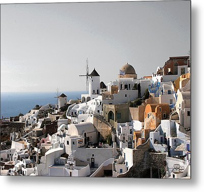Mykonos Greece Metal Print by Jim Kuhlmann