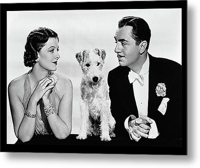 Myrna Loy Asta William Powell Publicity Photo The Thin Man 1936 Metal Print by David Lee Guss