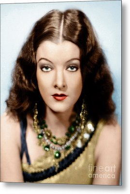 Metal Print featuring the photograph Myrna Loy by Granger