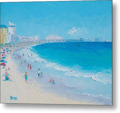 Myrtle Beach And Springmaid Pier Metal Print