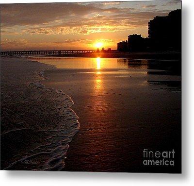 Myrtle Beach Sunset Metal Print by Patricia L Davidson