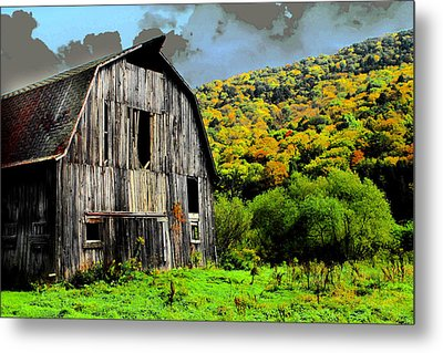 Mysterious Barn Metal Print by Barry Shaffer