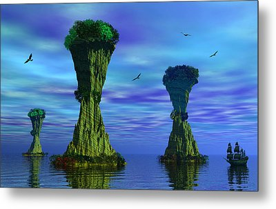 Mysterious Islands Metal Print by Mark Blauhoefer