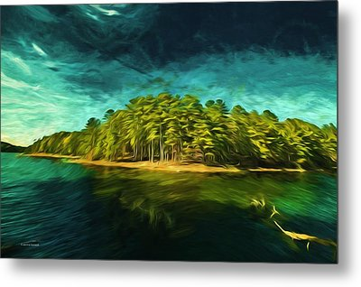Mysterious Isle Metal Print by Dennis Baswell