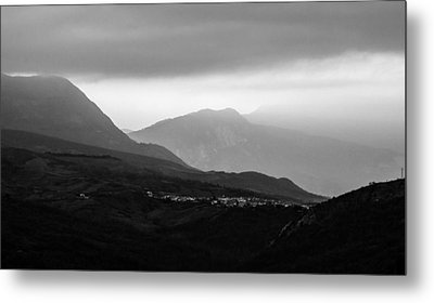 Mysterious Land - Black And White  Metal Print by Andrea Mazzocchetti