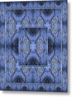 Mystery Blue Metal Print