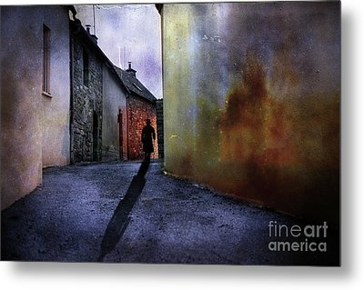 Metal Print featuring the mixed media Mystery Corner by Jim  Hatch