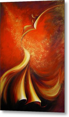 Metal Print featuring the painting Mystery Dance by Dina Dargo
