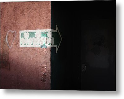 Metal Print featuring the photograph Mystery In The Doorway by Monte Stevens