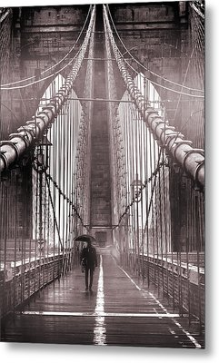 Mystery Man Of Brooklyn Metal Print by Az Jackson