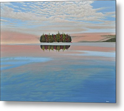 Metal Print featuring the painting Mystic Island by Kenneth M  Kirsch