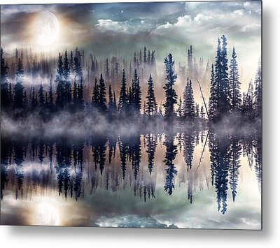 Mystic Lake Metal Print by Gabriella Weninger - David