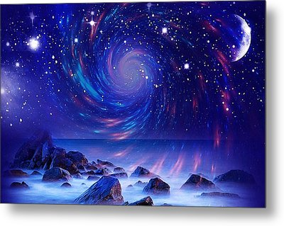 Mystic Lights Metal Print by Gabriella Weninger - David