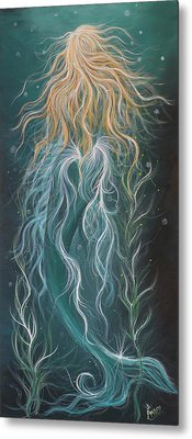 Mystic Mermaid Metal Print