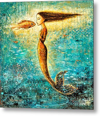 Mystic Mermaid Iv Metal Print