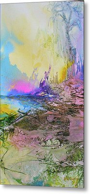 Metal Print featuring the painting Mystic Rendevous by Mary Sullivan