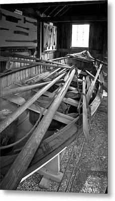 Mystic Seaport Whaling Boat Metal Print by John Haldane